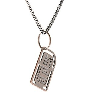 Necklace sim card