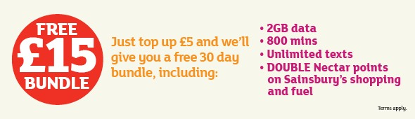 Sainsburys free sim card